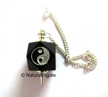 Ying Yang Silver Pendulums