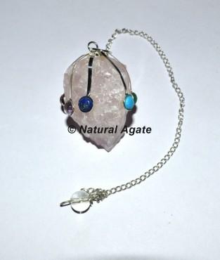 Rose Quartz Chakra Pendulums