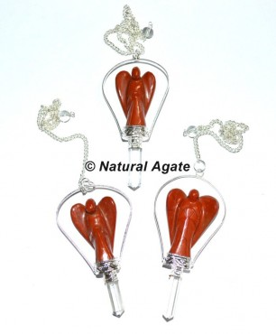 Red Jasper Angel Pendulums