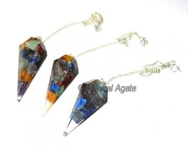 Orgone Chakra Stone Pendulums