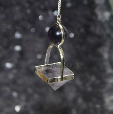 Amethyst Pyramid Ball Pendulums