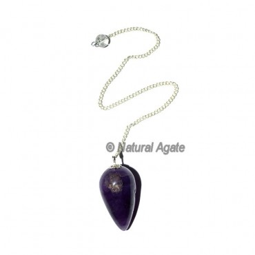 Amethyst Drop Pendulums