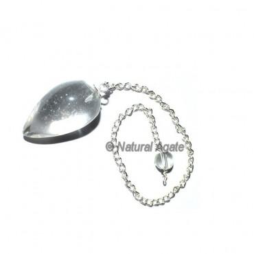Crystal Quartz Drop Pendulums