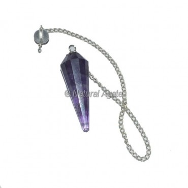 Amethyst 12 Faceted Pendulum