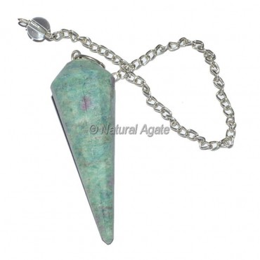 Ruby Zoisite 12 Faceted Pendulum
