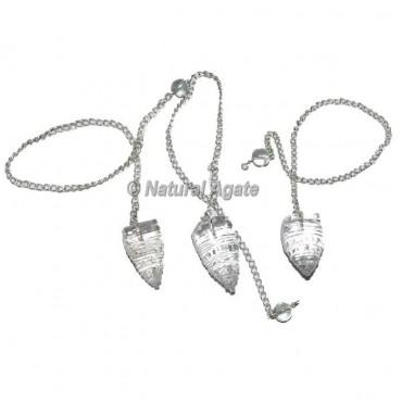 Crystal Quartz Shree Yantra Pendulums