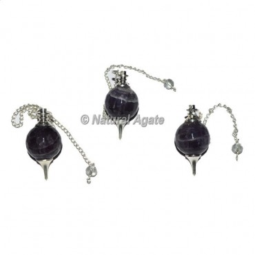 Amethyst Faceted Ball Pendulums