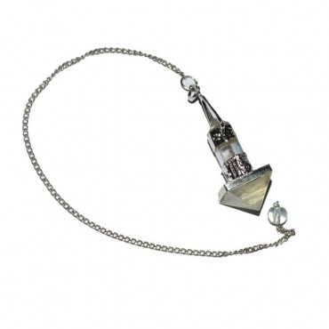 Crystal Quartz Pyramid Pendulum