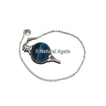 Agate Blue Onyx Ball Pendulums