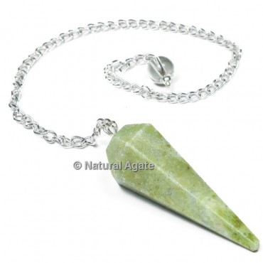 Vasonite 6 Faceted With Silver Chain Pendulums