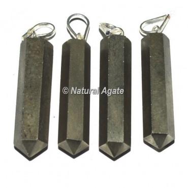 Pyrite Pencil Pendants