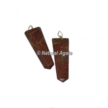 Red Jasper Flat PencilPendants