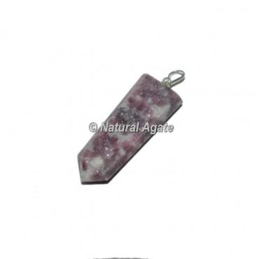 Lepidolite Flat PencilPendants