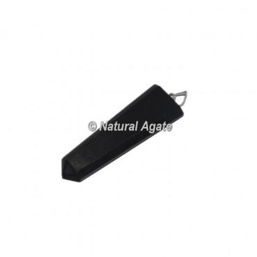 Black Tourmaline Agate  Flat Pencil Pendants