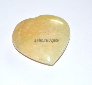 Golden Quartz Puffy Heart