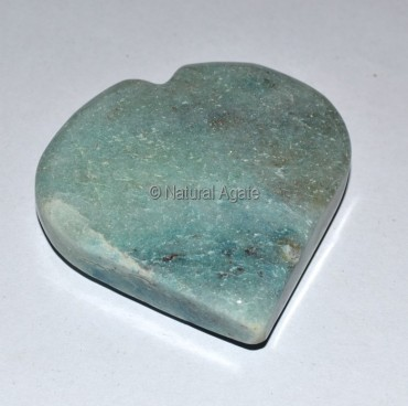 Green Aventurine Puffy Heart