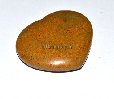 Yellow Jasper Puffy Heart