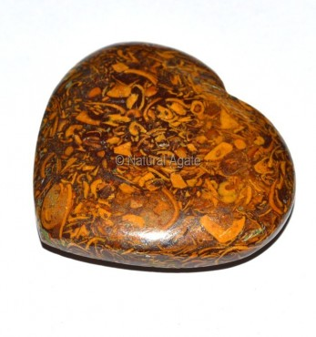 Mariyam Agate Puffy Heart