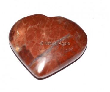 Red Jasper Puffy Heart