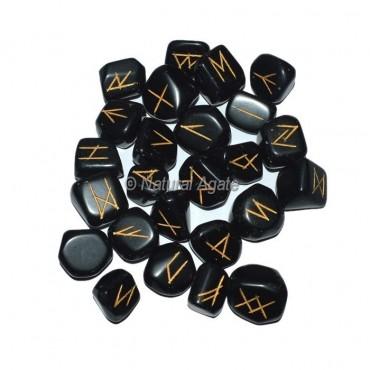 Black Tourmaline Rune Set