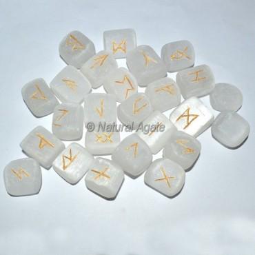 Selenite Rune Set