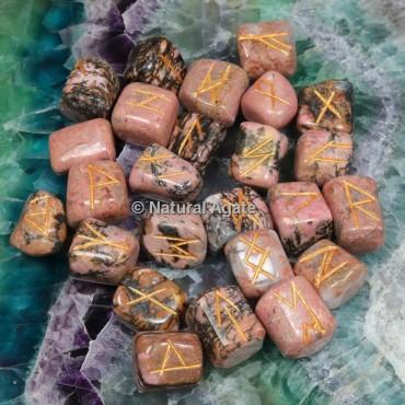 Rhodonite Rune Sets