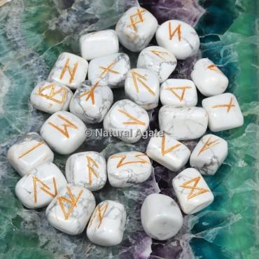 Howlite Rune Sets
