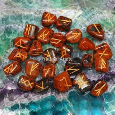Mahagony Jasper Rune Sets
