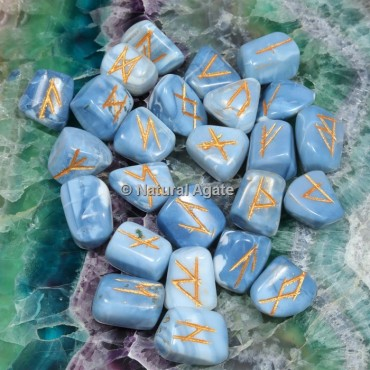 Blue Agate Rune Sets