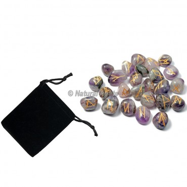 Amethyst Rune Set with Pocket