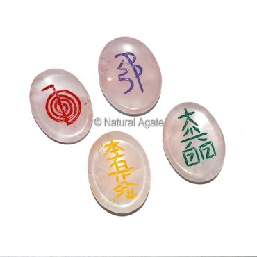Rose Quartz Color Usui Reiki Oval