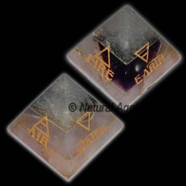 Air-Fire-Earth-Water Reiki Pyramid Set