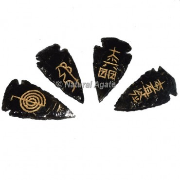 Black Oxygen Arrowheads Usui Reiki Set
