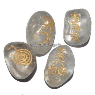 Crystal Quartz  Tumble stone Usui Reiki Set