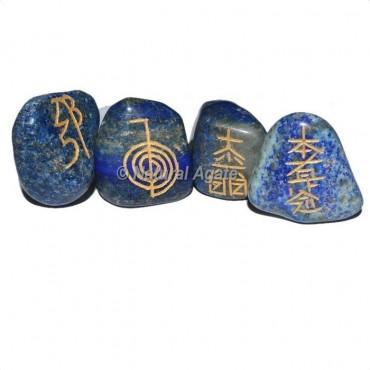 Lapis Lazuli  Tumble stone Usui Reiki Set