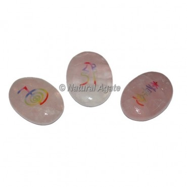 Colorful Rose Quartz Reiki set
