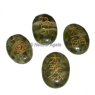 Green Agate Reiki Set
