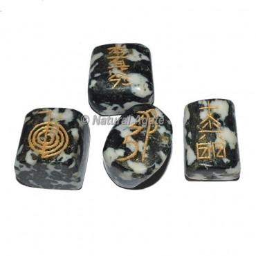 Zebra Tumble stone Reiki Set