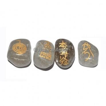 Crystal Quartz  Tumble stone Reiki Set