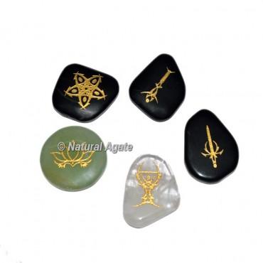 Engraved Accent Celtic Symbols Reiki Set