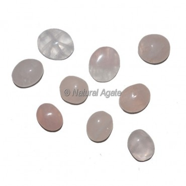 Rose Quartz Ring Cabochons