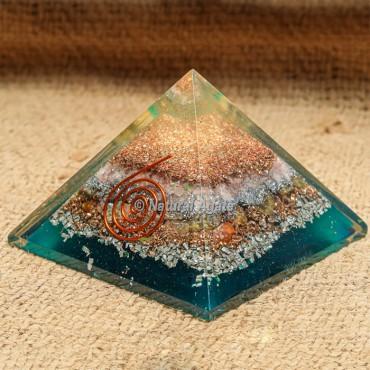 Rose Quartz Orgonite Pyramid with Copper Dust