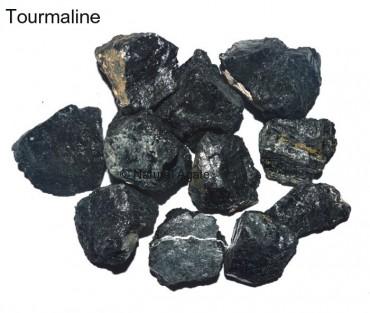 Black Tourmaline Rough Tumbled
