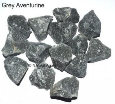 Grey Aventurine Rough Tumbled