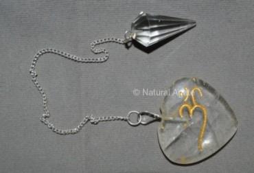 Crystal Quartz Om Suncatcher Pendulums
