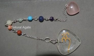 Crystal Quartz Chakra Suncatcher Pendulums