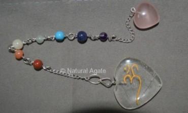 Crystal Quartz Suncatcher Pendulums