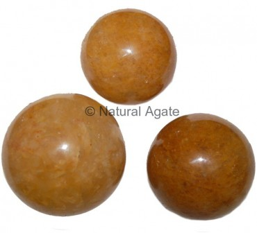 Golden Quartz Spheres