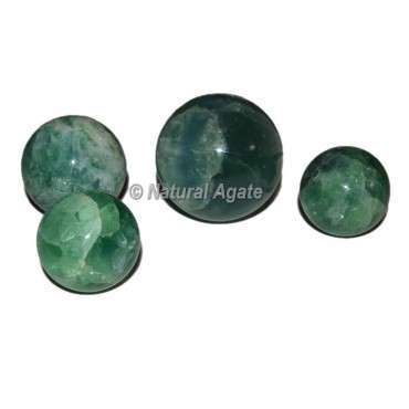 Green Fluorite Spheres
