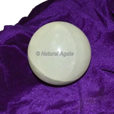 White Selenite Spheres